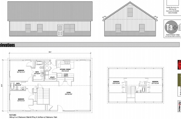 Inspiring Lovely Simple Metal Building Home Of 1935 Sq Ft Hq Plans Metal Building House Plans Pics