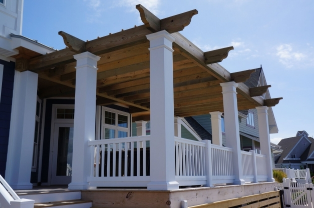 Outstanding Dramatic Pergola Over Top Of Waterfront Deck In Ocean City Tyler Pergola Over Deck Pictures Pic