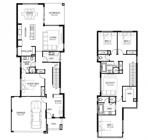 Stylish Double Storey 4 Bedroom House Designs Perth Apg Homes Floor Plan Samples For 2 Storey House Picture