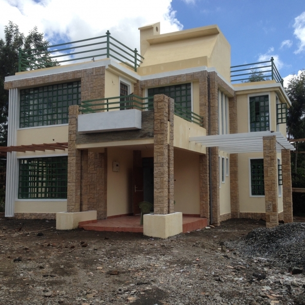 Stylish The Finished House Conte 4 Bedroom House Plan Adroit Modern House House Design Kenya Images