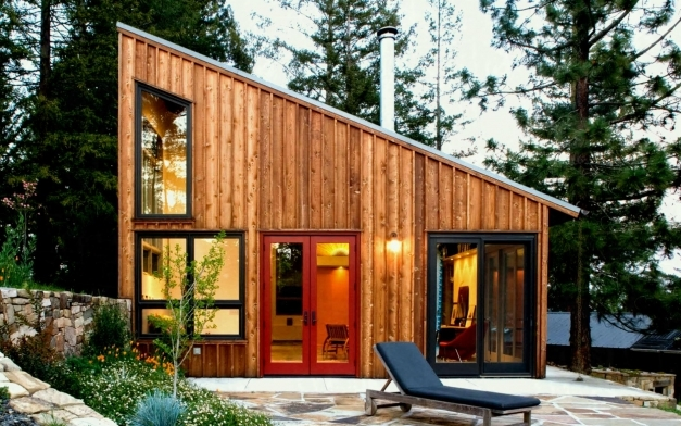 Wonderful Image Of Modern Cabin Plans With Loft Glass Wall Design Authentic Cabin Plans Modern Images
