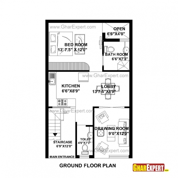 Outstanding House Plan For 22 Feet 35 Feet Plot Plot Size 86 Square Yards 22*40 House Plan East Facing Picture