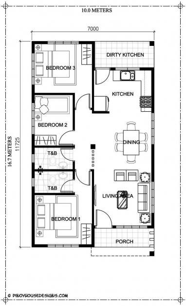Gorgeous Ruben Model Is A Simple 3 Bedroom Bungalow House Design With Total Simple Three Bedroom House Plan Picture