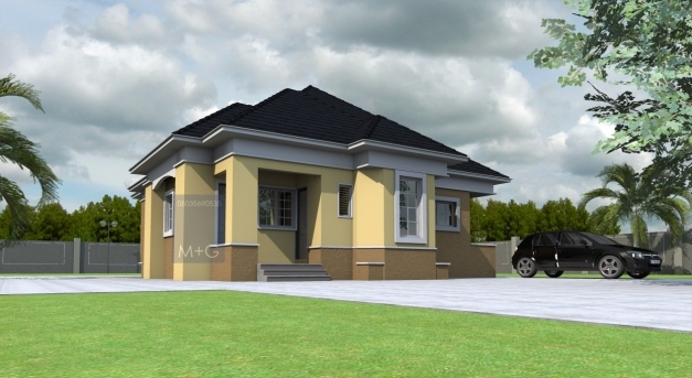 Marvelous Contemporary Nigerian Residential Architecture 3 Bedroom Bungalow Nigerian Architectural 3bedroom Floor Plan Pic