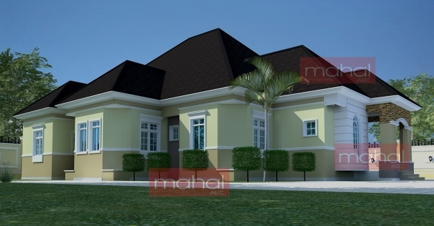 Marvelous Contemporary Nigerian Residential Architecture Festus House 5 6 Bedroom Bungalow House Plans In Nigeria Pictures