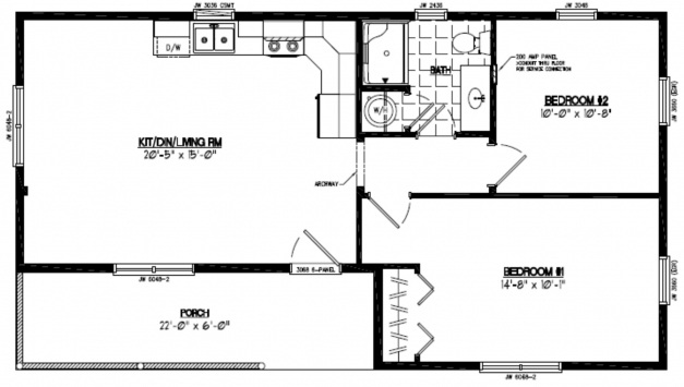 Marvelous Certified Homes Frontier Style Certified Home Plans 22*40 House Plan Photos