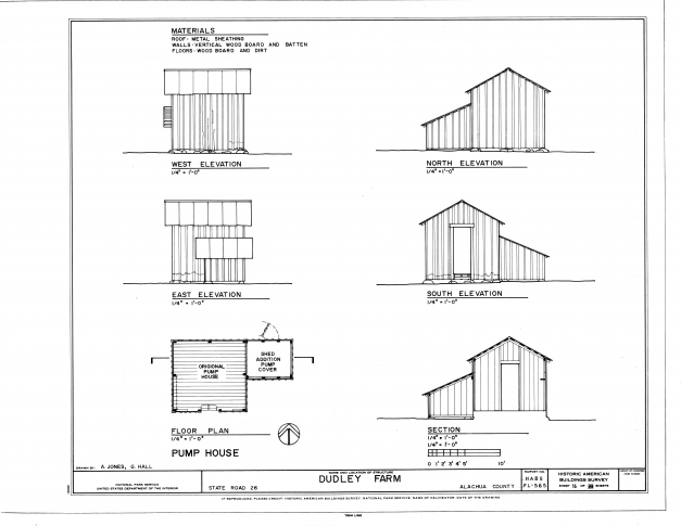 Marvelous Filepump House Elevations Floor Plan And Section Dudley Farm House Floor Plans Elevations Photo