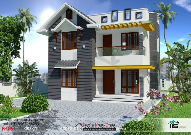 Remarkable 3 Bedroom House Plans Kerala Double Floor Savaeorg Kerala 3 Bedroom Two Storey House Plan Three Bedroom House With Elevation Picture