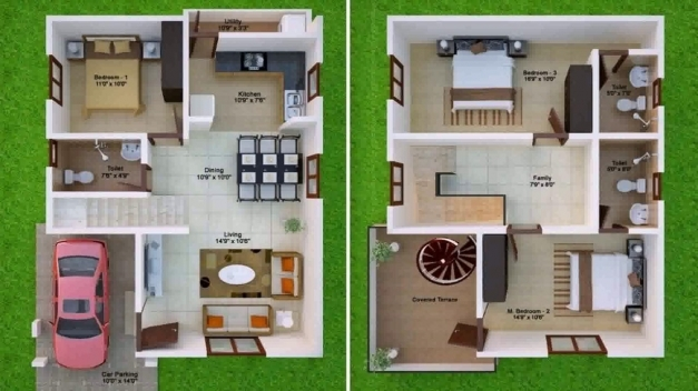 Wonderful House Plan For 1000 Sq Ft North Facing Youtube 1000 Sq Ft House Plans With Car Parking Pic